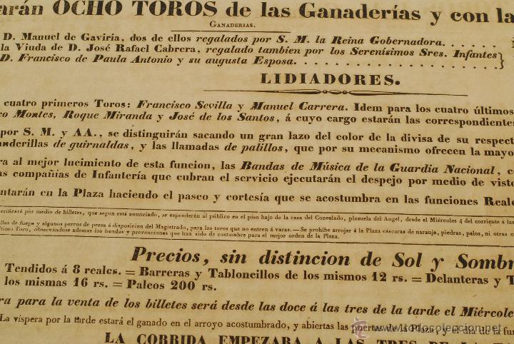 Militaria: Corrida de Toros para dotar de equipo y armamento Cuerpo de Tropas 1835. Guerra Carlista. Isabel II. - Foto 4 - 45335973