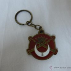 Militaria: LLAVERO DEL GRUPO DE FUERZAS REGULARES 2 DE MELILLA, BARCELONA 1999. Lote 45638035