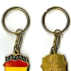 Militaria: LLAVERO DE LA HERMANDAD DE LA DIVISIÓN AZUL DE BARCELONA XIII CAPÍTULO NACIONAL 1992. Lote 45721406