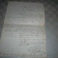 Militaria: BONITO DOCUMENTO MILITAR DE UN BRIGADIER DEL 1800. Lote 45730601