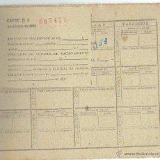 Militaria: PS4964 CARTILLA DE RACIONAMIENTO CON CUPONES - BARCELONA 1952. Lote 45862680