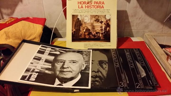 FRANCISCO FRANCO, VOZ Y PENSAMIENTO, REVISTA Y 4 DISCOS LP`S DE VINILO (Militar - Propaganda y Documentos)