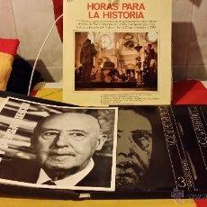 Militaria: FRANCISCO FRANCO, VOZ Y PENSAMIENTO, REVISTA Y 4 DISCOS LP`S DE VINILO. Lote 45982093