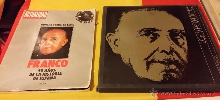 Militaria: FRANCISCO FRANCO, VOZ Y PENSAMIENTO, REVISTA Y 4 DISCOS LP`S DE VINILO - Foto 2 - 45982093
