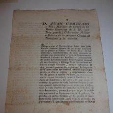 Militaria: DOCUMENTO MILITAR DE MARISCAL DE CAMPO. BARCELONA 1794, SOMATENES.. Lote 46048093
