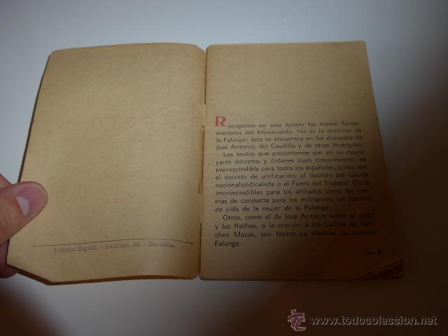 Militaria: Librito textos fundamentales de falange, barcelona , 1939, guerra civil - Foto 3 - 46048418