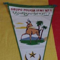 Militaria: ANTIGUO BANDERIN TIRADORES DE IFNI, GRUPO POLICIA IFNI Nº 1, 3/L. EPOCA DE FRANCO, SIDI IFNI. Lote 46274896