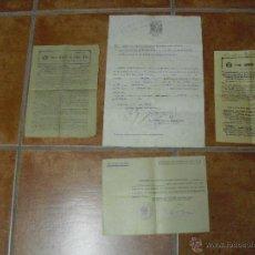 Militaria: LOTE DE DOCUMENTOS DE UN OFICIAL MEDICO POS GUERRA CIVIL EPOCA FRANCO. Lote 46386151