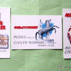 Militaria: 2ª MUESTRA MILITARIA EN EUROPA. ROMA 1.990. TRES TARJETAS. EDICION LIMITADA 1000 U.. Lote 46423826