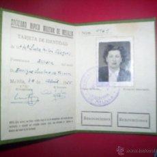 Militaria: CARNET SOCIEDAD HIPICA MILITAR MELILLA 1955. Lote 46549156