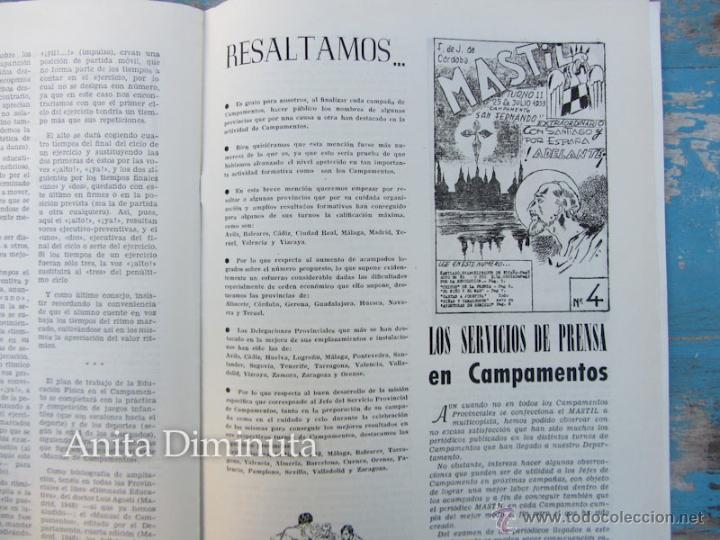 Militaria: ANTIGUA REVISTA MASTIL - BOLETIN MANDOS CAMPAMENTOS DEL FRENTE DE JUVENTUDES - 1953 - AÑO IX Nº 4 - - Foto 3 - 46654442