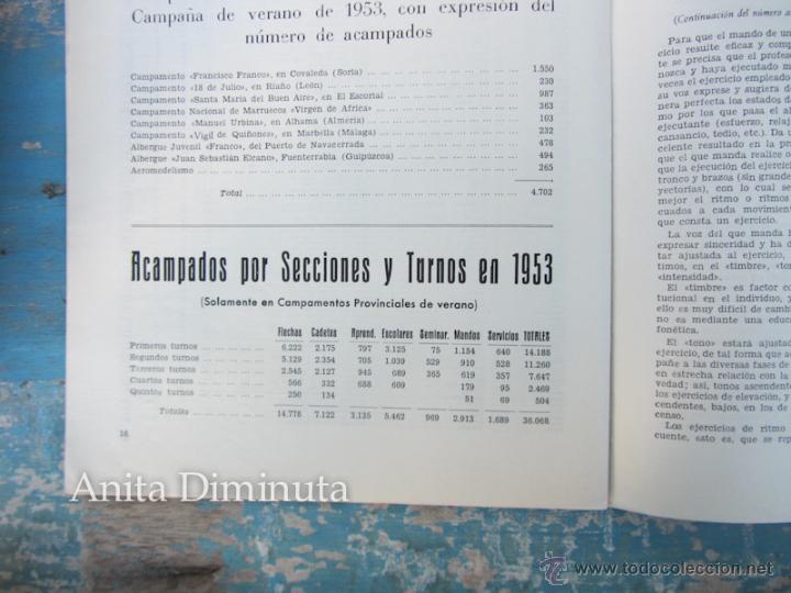 Militaria: ANTIGUA REVISTA MASTIL - BOLETIN MANDOS CAMPAMENTOS DEL FRENTE DE JUVENTUDES - 1953 - AÑO IX Nº 4 - - Foto 4 - 46654442