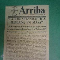 Militaria: FOLLETO DE LA FALANGE ESPAÑOLA ARRIBA (LA POBLACION BALTICA FUSILADA EN MASA). Lote 46665874