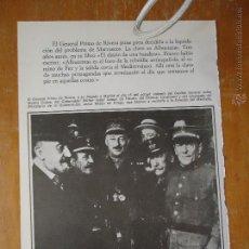 Militaria: HOJA MILITAR - FOTOGRAFIA - PRIMO DE RIVERA MADRID . Lote 46675099