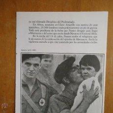 Militaria: HOJA MILITAR - FOTOGRAFIA - NAVARRA , JULIO 1936. Lote 46678110