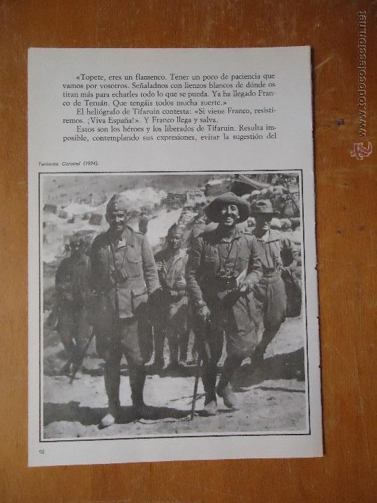 HOJA MILITAR - FOTOGRAFIA - TENIENTE CORONEL 1924 (Militar - Propaganda y Documentos)