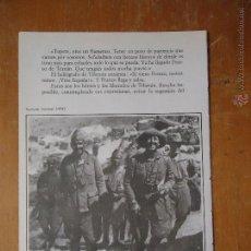Militaria: HOJA MILITAR - FOTOGRAFIA - TENIENTE CORONEL 1924. Lote 46678540