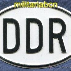 Militaria: PLACA IDENTIFICATIVA NACIONAL DE LOS VEHÍCULOS DE LA DDR REPÚBLICA DEMOCRÁTICA ALEMANA 1989.. Lote 47017792