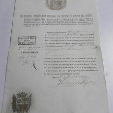 Militaria: NOMBRAMIENTO DE SARGENTO DE LA GUARDIA CIVIL VETERANA, POR EL EXCMO. SEÑOR DON ISIDORO HOYOS Y RUBIN. Lote 46904374