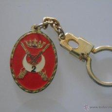 Militaria: LLAVERO MILITAR. GRUPO DE REGULARES Nº 2. MELILLA. AÑOS 60 70. Lote 46907838