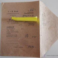 Militaria: SOBRE DE NÓMINA DEL MES DE JULIO DE 1939. IMPORTE DE HABERES DE RETIRO CON DEDUCCIONES. Lote 46949762