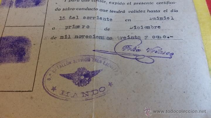 Militaria: GUERRA CIVIL REPUBLICA SALVO CONDUCTO CAPITAN 5º BATALLON DE TRANSPORTE AUTOMOVIL, TREN EJERCITO - Foto 2 - 46965012