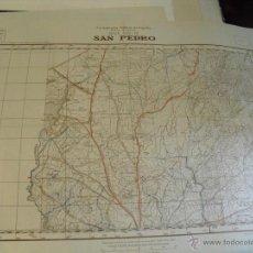 Militaria: CARTOGRAFIA MILITAR DE ESPAÑA PLANO DIRECTOR 1/25000 SAN PEDRO 1942. Lote 47041822