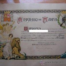 Militaria: MARINA DE GUERRA. REPÚBLICA ESPAÑOLA. 1935. DIPLOMA.. Lote 47120617