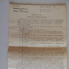 Militaria: CIRCULAR 10. DELEGACIÓN PROVINCIAL DEL FRENTE DE JUVENTUDES. FALANGES JUVENILES DE FRANCO. 1943. Lote 47177656