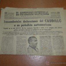 Militaria: ANTIGUO DIARIO EL NOTICIERO UNIVERSAL, 1944, SEGUNDA GUERRA MUNDIAL. Lote 47198157