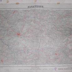 Militaria - Plano Militar de Alcaudete 1951 Con fondo de tela - 47241450