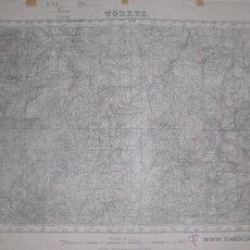 Militaria: PLANO MILITAR DE TORRES 1938 CON FONDO DE TELA. Lote 47241589
