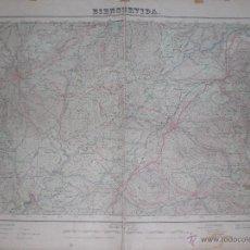 Militaria: PLANO MILITAR DE BIENSERVIDA 1954 CON FONDO DE TELA. Lote 47241603
