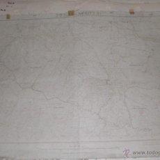 Militaria: PLANO MILITAR DE FUENCALIENTE 1934 CON FONDO DE TELA. Lote 47241782