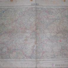 Militaria: PLANO MILITAR DE SILES 1952 CON FONDO DE TELA. Lote 47241891