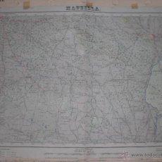 Militaria: PLANO MILITAR DE MAGUILLA 1949 CON FONDO DE TELA. Lote 47242051