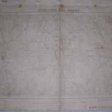 Militaria: PLANO MILITAR DE HINOJOSA DEL DUQUE 1934 CON FONDO DE TELA. Lote 47242311