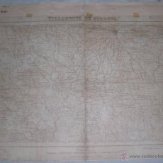 Militaria: PLANO MILITAR DE VILLANUEVA DE CORDOBA 1934 CON FONDO DE TELA. Lote 47242332