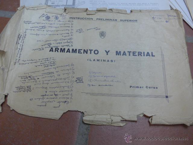 Militaria: Armamento y material, gran lote de laminas de armas ejercito español. IPS, Falange. Dos cursos - Foto 2 - 47273275