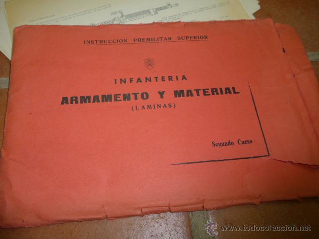 Militaria: Armamento y material, gran lote de laminas de armas ejercito español. IPS, Falange. Dos cursos - Foto 3 - 47273275