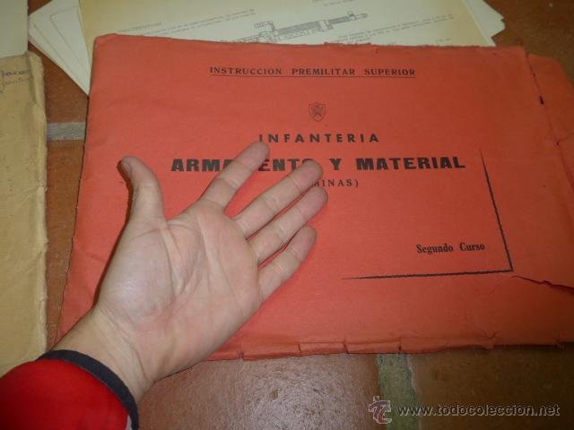 Militaria: Armamento y material, gran lote de laminas de armas ejercito español. IPS, Falange. Dos cursos - Foto 4 - 47273275