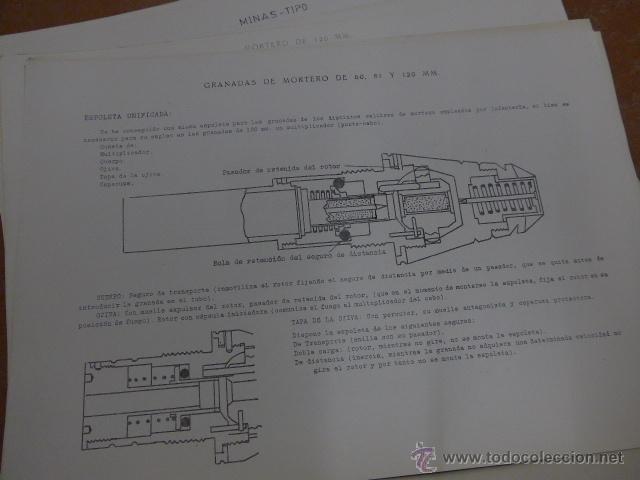 Militaria: Armamento y material, gran lote de laminas de armas ejercito español. IPS, Falange. Dos cursos - Foto 6 - 47273275