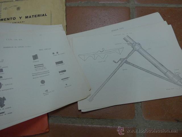 Militaria: Armamento y material, gran lote de laminas de armas ejercito español. IPS, Falange. Dos cursos - Foto 7 - 47273275