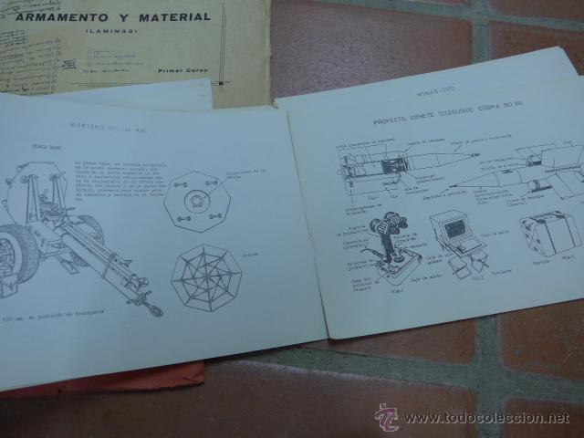 Militaria: Armamento y material, gran lote de laminas de armas ejercito español. IPS, Falange. Dos cursos - Foto 8 - 47273275