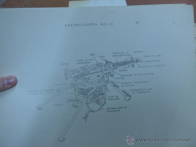 Militaria: Armamento y material, gran lote de laminas de armas ejercito español. IPS, Falange. Dos cursos - Foto 10 - 47273275