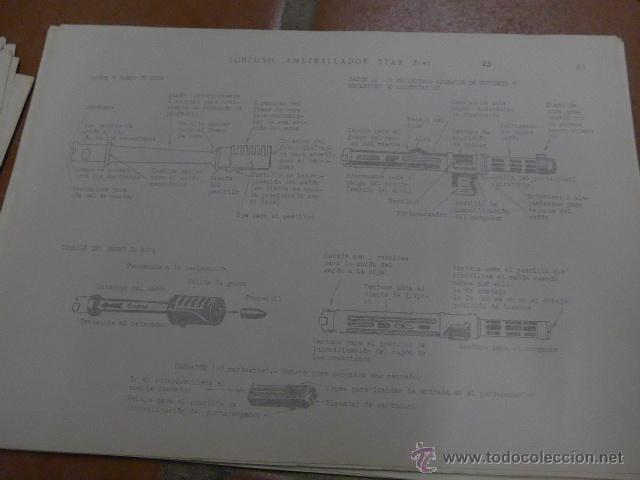Militaria: Armamento y material, gran lote de laminas de armas ejercito español. IPS, Falange. Dos cursos - Foto 11 - 47273275