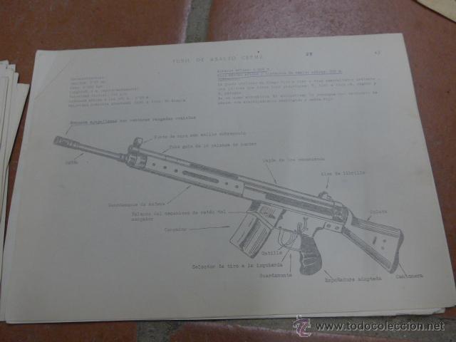 Militaria: Armamento y material, gran lote de laminas de armas ejercito español. IPS, Falange. Dos cursos - Foto 12 - 47273275