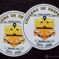 Militaria: ARMADA ESPAÑOLA. SUBMARINO MARSOPA. PAREJA DE PEGATINAS CRUCERO DESPEDIDA. Lote 151266608