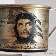 Militaria: TAZA CUBANA .ERNESTO GUEVARA .HECHA A MANO.. Lote 47518901