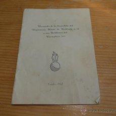 Militaria: LIBRITO REGIMIENTO MIXTO DE ARTILLERIA, NUMERO 8. 1963. Lote 47555879